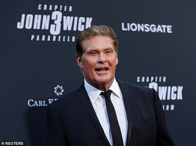 The Hoff: David Hasselhoff takes in the festivities at the John Wick 3 premiere