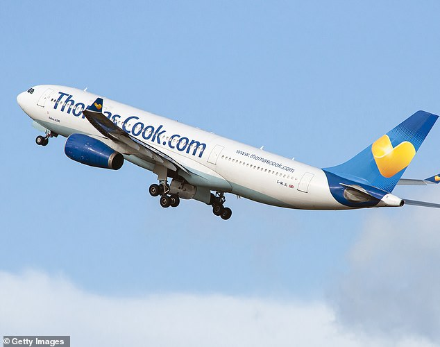 Up for sale: Thomas Cook also revealed today that 'multiple' bids had been made for all or part of its airline arm, which was put up for sale back in February
