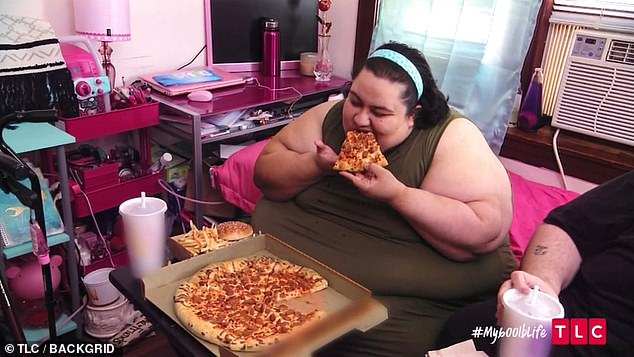 Ms Rodriguez would overindulge in pizzas, burgers and chips, and large fizzy drinks