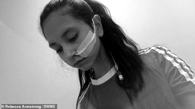 Aliya (pictured in hospital) says she's become stronger mentally and her views on being skinny have changed