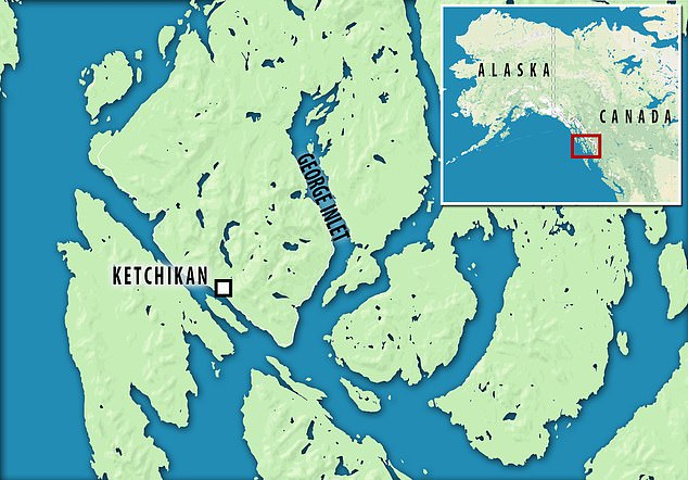 The two sea planes crashed midair at 3,300 feet after taking off from Ketchikan, Alaska. One plane then fell into the George Inlet