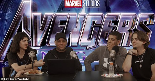 Family: Prince (far right) and Blanket (far left) Jackson have started their own YouTube series. The 22-year-old and 17-year-old brothers - who are the sons of the late King of Pop Michael Jackson - have teamed up for a movie review show on the online platform, with their first review of Avengers: Endgame