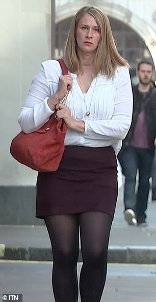 Nurse Helen Kennett arrives for the London Bridge inquests at the Old Bailey today