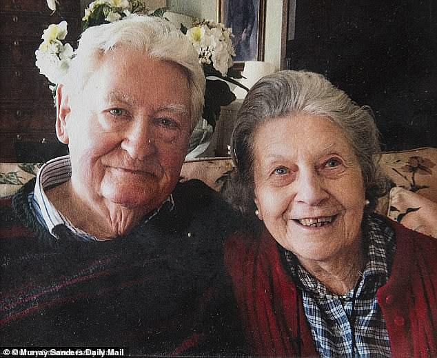 Field Marshall Lord Brammall, pictured with his wife of 64 years Dorothy, who died before his name was cleared