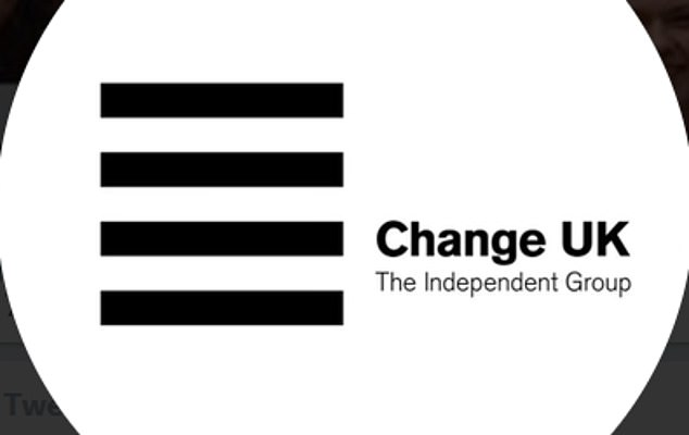 The logo of breakaway group Change UK (pictured) has been widely ridiculed