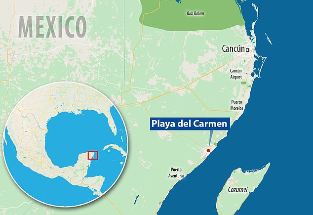 The coastal town of Playa del Carmen, a top destination for tourists visiting Mexico's Caribbean coast, is located in the municipality of Solidaridad and south of Cancun
