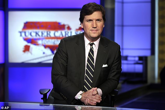 Mr Banks, through Southern Rock, paid American lobbying firm Goddard Gunster £64,064 for a 'Nigel Farage Brexit Policy Luncheon' and paid Fox News anchor Tucker Carlson (pictured) £11,305.41 to interview Mr Farage at the event