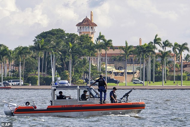 The government has spent millions protecting Trump while he is at Mar-a-Lago, accompanied by family and staff