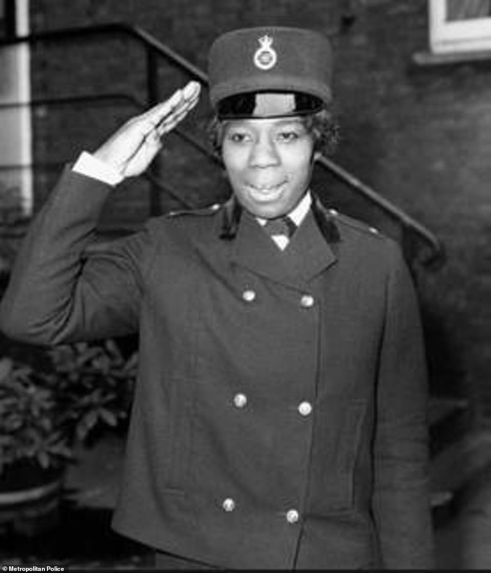 Fay Allen was the first non-white policewoman in the Met and served from 1968 to 1972. She was born in Jamaica and qualified as a nurse in Croydon before applying to work as a policewoman. She is reported to have said: 'On the day I joined I nearly broke a leg trying to run away from reporters. I realised then that I was a history maker. But I didn't set out to make history, I just wanted a change of direction'