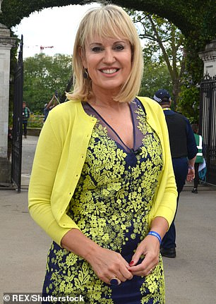 Nicki Chapman at the Chelsea Flower Show, in London on May 2016