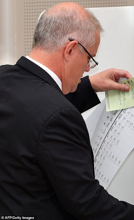 The PM casts his vote in Cook, south Sydney