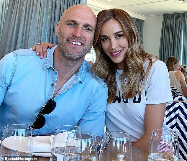 'I can see the power in a sex strike': Rebecca Judd's AFL star husband Chris Judd, 35, revealed on Triple M's Friday Night Footy, why he threatened to impose a ban on getting intimate