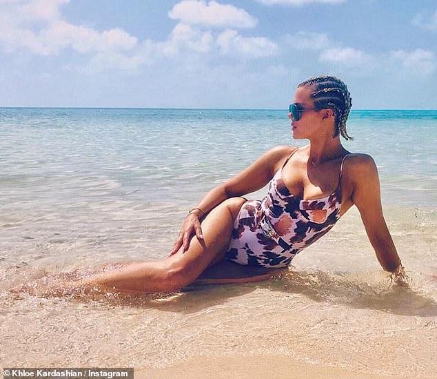 Khloe Kardashian flaunts swimsuit body on Turks And Caicos