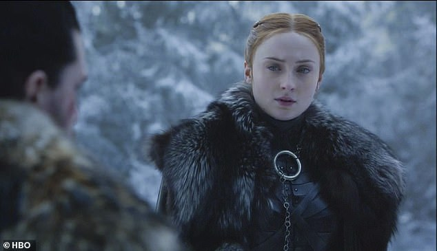 Game Of Thrones finale: Fans are panicking the ending will be a massive letdown as plot details 'are leaked in a TEXT MESSAGE' and star Sophie Turner (pictured in character) admits 'a lot of people will be upset'
