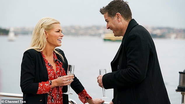 'You are like a caged rat': Stu Laundy (right) claimed on Channel Seven's Sunday Night program that his scenes on The Bachelorette with Sophie Monk (left) were edited