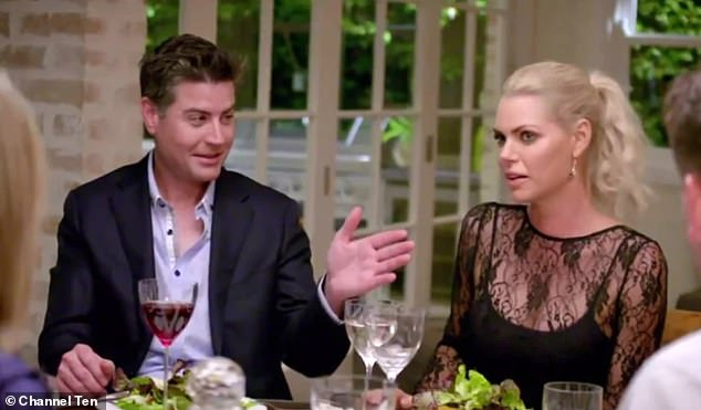Stu called the scene: 'One really big example of this weird cut-and-paste editing'. Stu is pictured with Sophie during the dinner episode of The Bachelorette in 2017