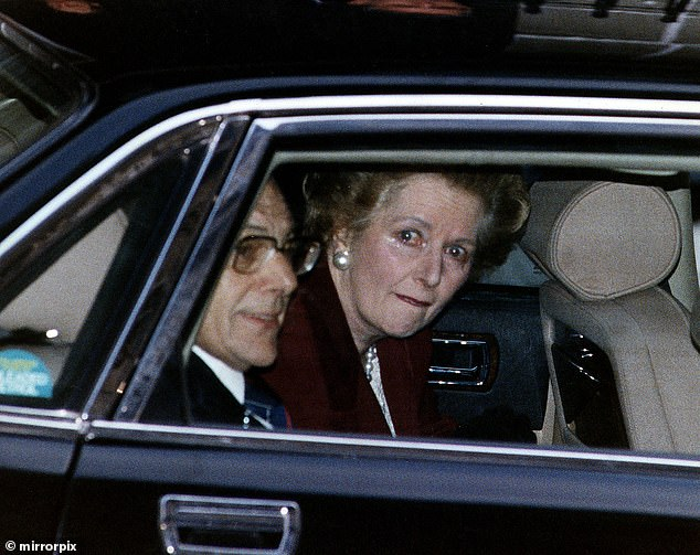 Mrs Thatcher was seen in tears when she left Downing Street after her resignation in November 1990