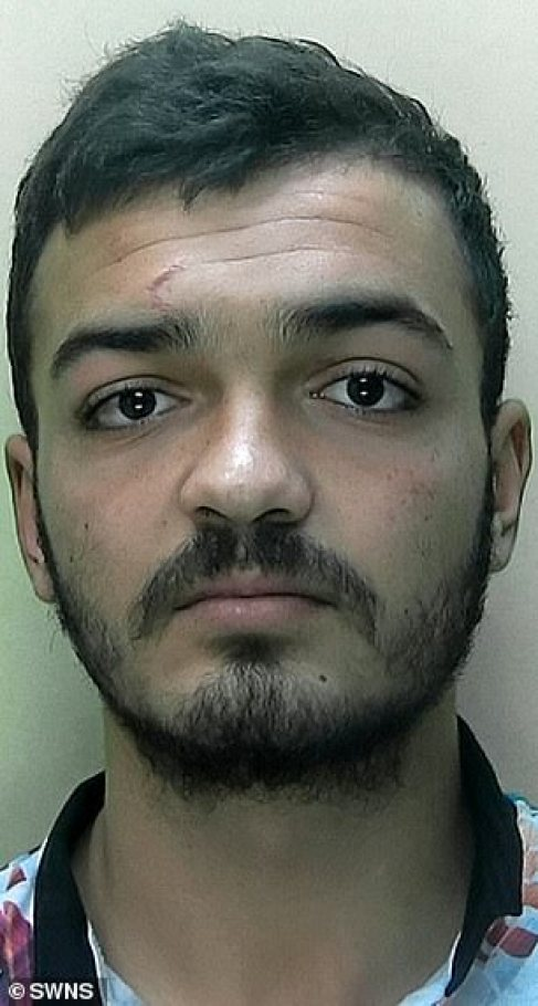 The five attackers: Florin Calin, 20, Dorel Diaconu, 23, Oprea Dobre, 18, Alexandru Dobrin, 18, (pictured) and Marius Dobrin, 24, have now each been jailed for ten years