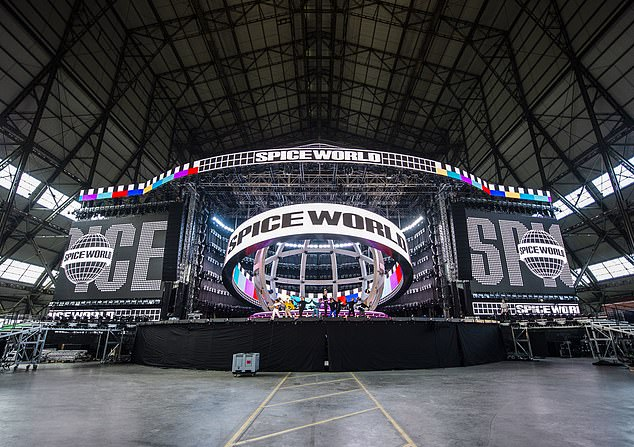 Wow!The Wannabe hitmakers kick off their extensive run at Dublin's Croke Park on Friday, and the band shared images of the epic stage and lighting design by Tim Routledge