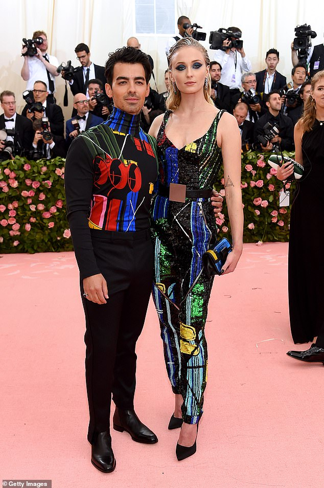 Mr and Mrs: Meanwhile Sophie and Joe tightened the knot at the beginning of this month in a Las Vegas surprise ceremony after the Billboard Music Awards