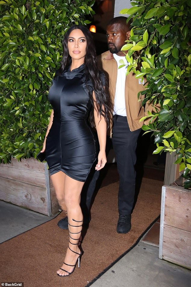When you got it, flaunt it:Two weeks after their son Psalm was born via surrogacy, Kim, 38, showed off her amazingly tiny waistline in a skintight outfit