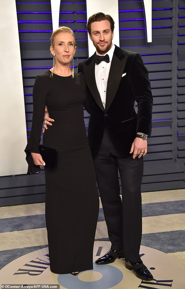 Sam Taylor-Johnson, 52, and husband Aaron, 28, wear ...