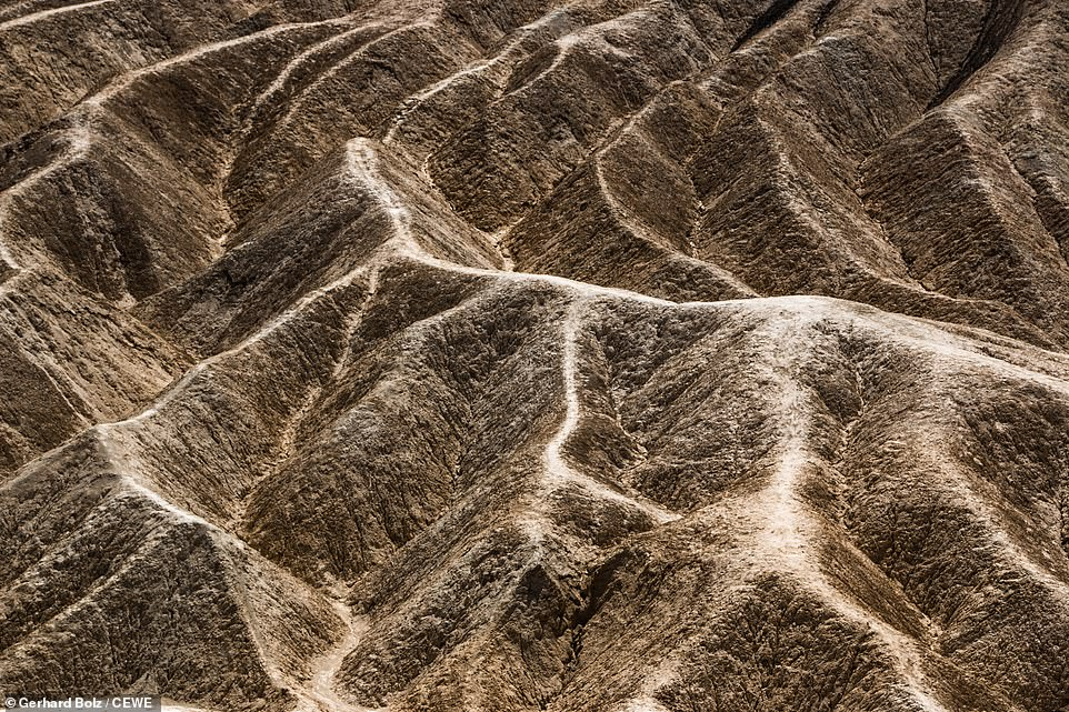 The parched landscape of Death Valley in California is captured here by Gerhard Bolz. It is one of the driest spots in America