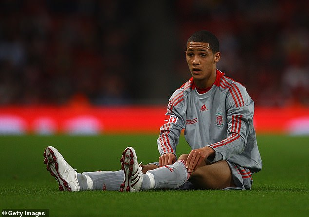 Thomas Ince looks downcast when his side lost to Liverpool in a 1-0 loss to the Emirates