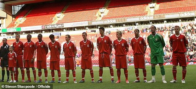 Liverpool's second-leg finals team: (left-right) Joe Kennedy, Andre Wisdom, David Amoo, Alexander Kacaniklic, Steven Irwin, Jack Robinson, Daniel Ayala, Christopher Bayman, Tom Ince, Dean Bouzanis and Lauri Dalla Valle