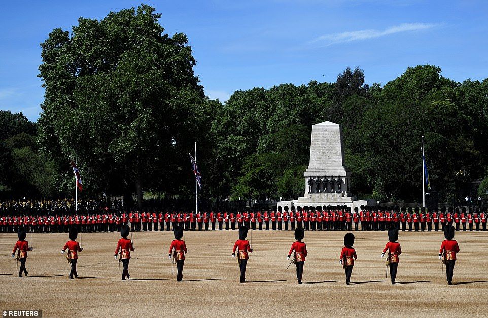 Two guardsmen faint during Trooping the Colour rehearsals