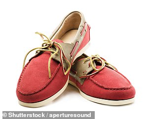 Podiatrist Emma Price says boat shoes (pictured) are¿great for anyone with weak ankles that sprain easily or with torn ligaments¿