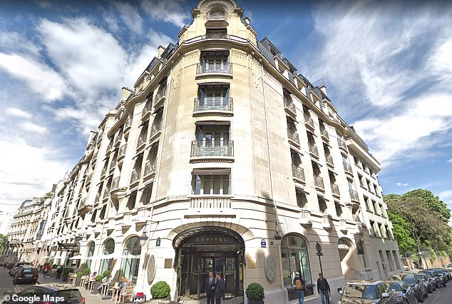 The incident is alleged to have occurred on May 15 at the Sofitel Paris Arc Du Triomphe (pictured)