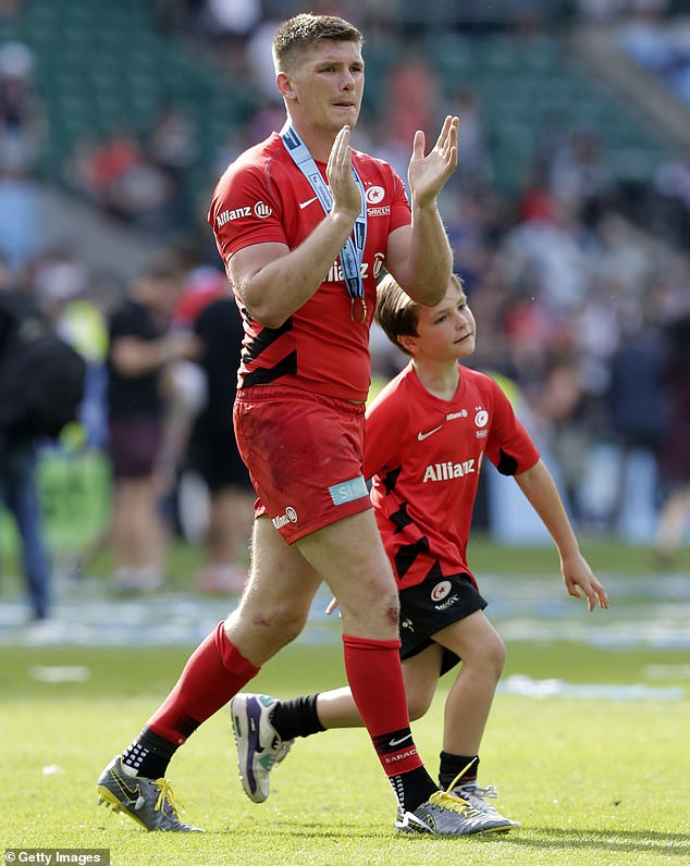Owen Farrell earned praise from players and coaches for his inspirational half-time speech