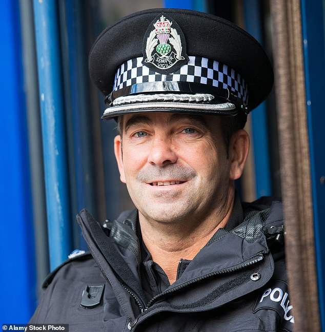 A former Premier League football star's wife has been arrested over claims she had sex in a park and ride car park with married police superintendent Gareth Blair, 48 (pictured)