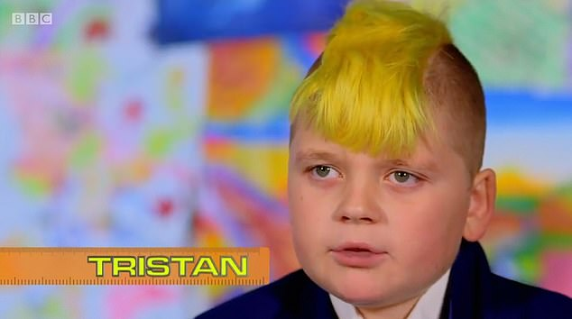 Tristan appeared on a BBC series called 'Our School' in 2017 in which he was filmed in class with a bright yellow mohawk - which he had dyed to help raise cash for a friend with bone cancer