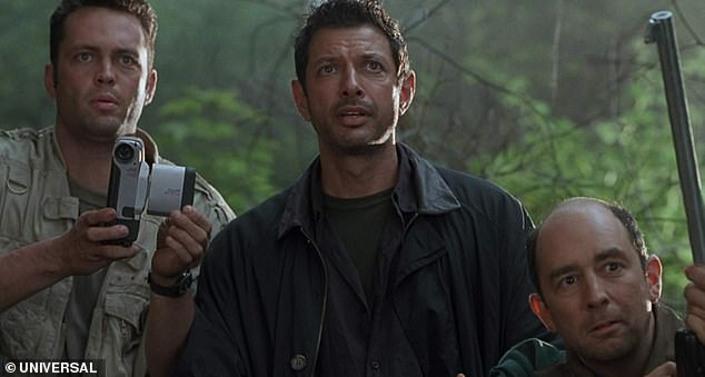 Second time lucky: Goldblum's character survived another disaster, this time on a different island, with mostly new characters introduced