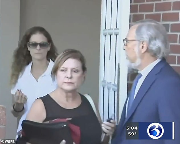 Troconis reportedly made the confession last week. She is seen leaving her attorney's office on Thursday