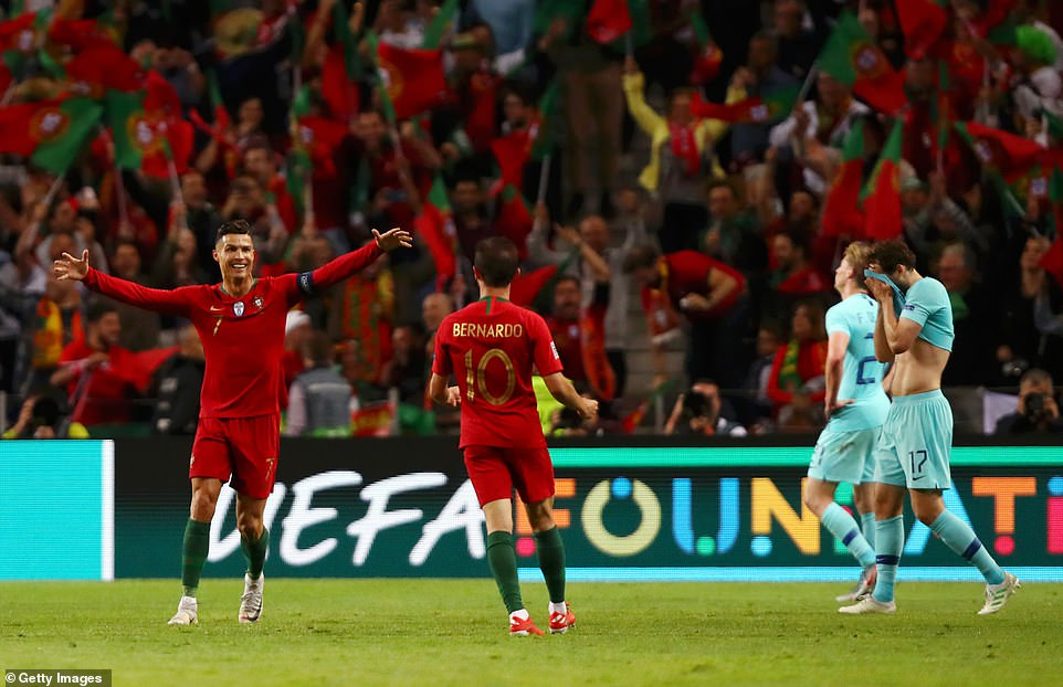 There were euphoric celebrations from Ronaldo, Silva and Co to contrast with the Dutch despair at full time