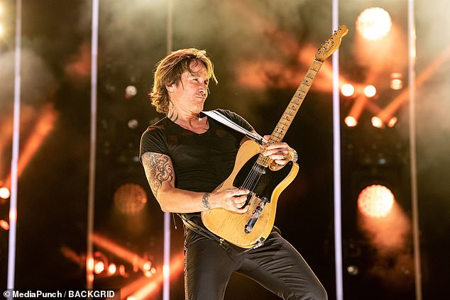 What a show! The rockstar sauntered around the stage with his signature electric guitar
