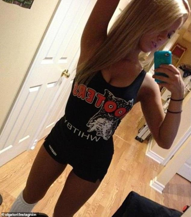 Missing it? Olga posted several throwback shots from her time at Hooters in 2014 - two years after she worked there