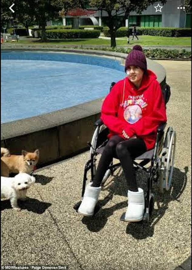 She now claims she is unable to walk, and has been wheelchair-bound for the last six months of her life