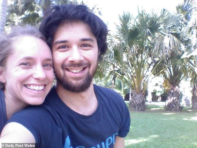 Her husband Dr Robert Annewandter (pictured together) said: 'We are desperate to get her home to give her a life because at the moment her only pleasure is television'
