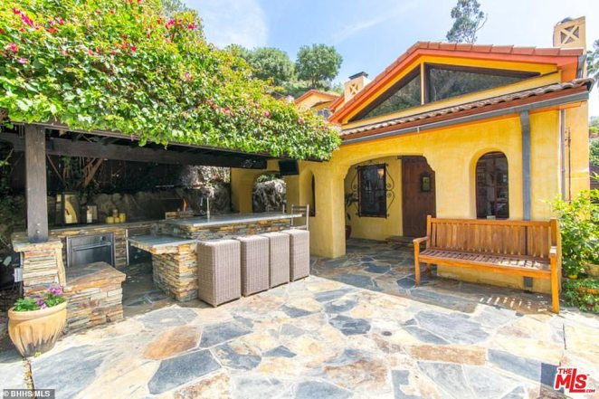 On the market: This Mediterranean-inspired villa in Los Angeles, California, is being put on the market for $2.4million - or alternatively for $8,500 a month as an unfurnished rental - by Homeland producer Gideon Raff