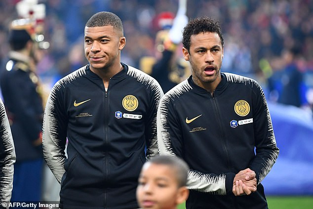 The relationship between Kylian Mbappe (left) and Neymar (right) remains controversial