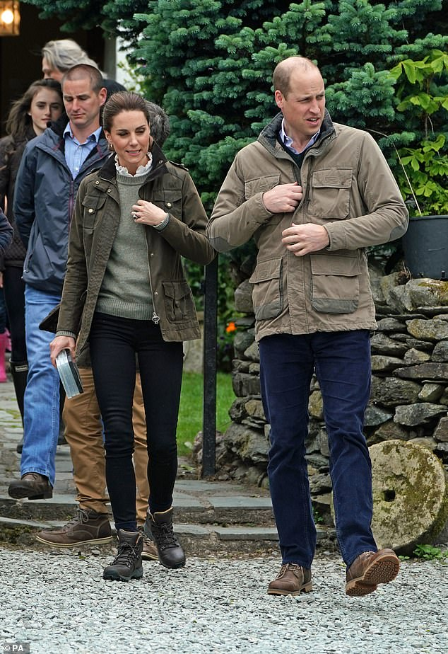 The Duke and Duchess of Cambridge during a visit to Deepdale Hall Farm, a traditional fell sheep farm, in Patterdale, Cumbria