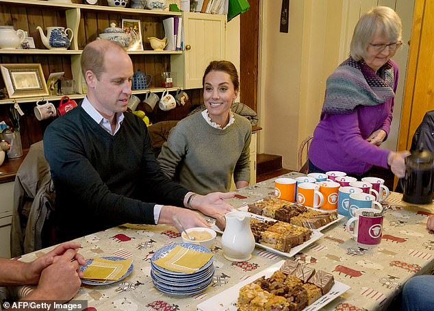 William and Kate during their visit to the farm house at Deepdale Hall Farm, a traditional fell sheep farm, in Patterdale in the Lake District