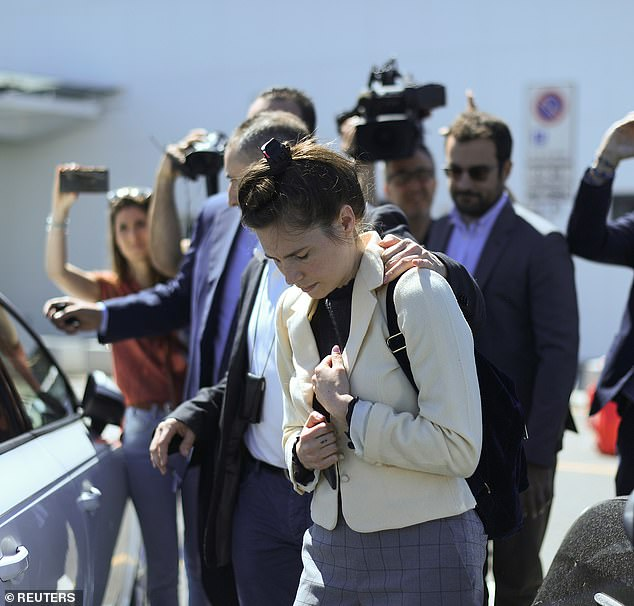 Amanda Knox arrived in Italy today for the first time since being released from prison in 2011