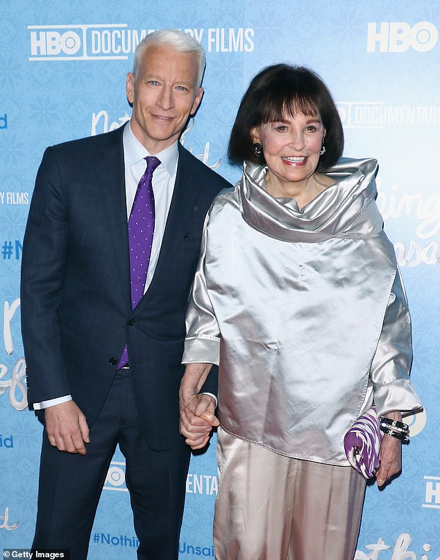 Gloria Vanderbilt, the New York socialite and Anderson Cooper's mother, has died age 95. They are shown together in 2016