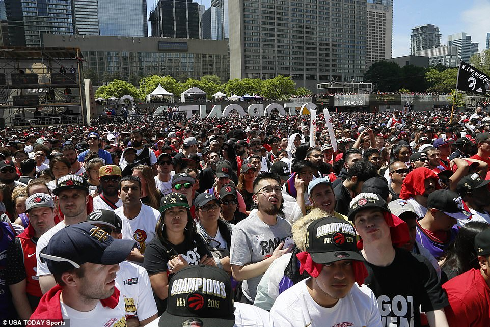 Some compared the national support the Raptors received in 2019 to the 1992 and 1993 Toronto Blue Jays, who became the first MLB franchise outside the US to win a World Series. Likewise, the Raptors are the first non-US NBA franchise to win a title