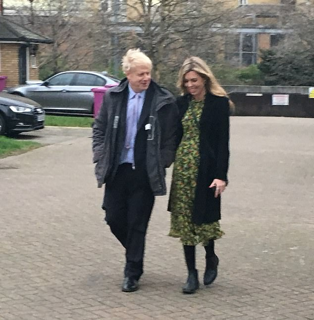 The couple pictured together in London on January 18, for the first time after Mr Johnson's second marriage ended following rumours of a relationship with Miss Symonds